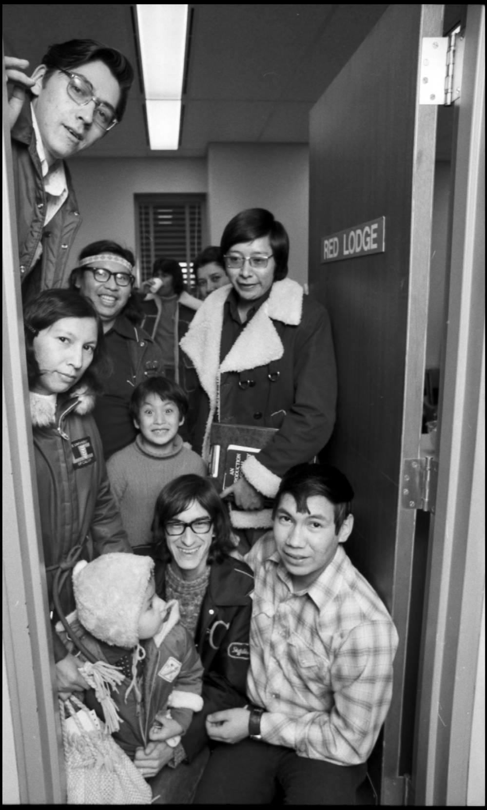 Aboriginal students using the Red Lodge Indian Student Room in the Education building in December 1972
