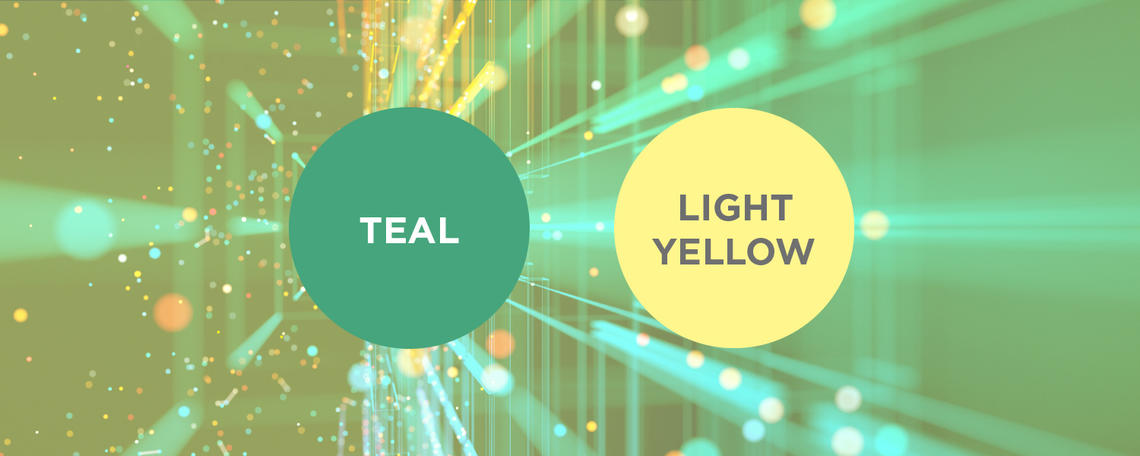 Teal and Light Yellow
